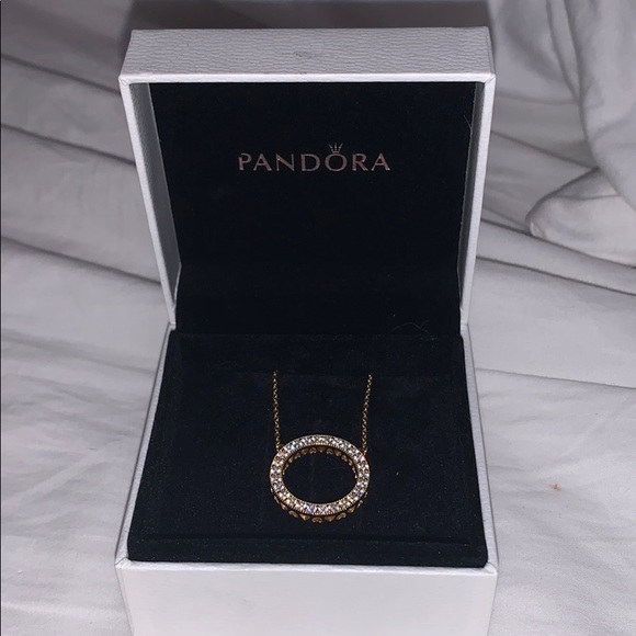 Pandora Jewelry - Reversible pandora circle necklace.